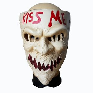 Wholesale New Arrival Movie Themed The Purge Election Year Kiss Me Cosplay Horror Resin Skull Mask Halloween Masquerade Party Mask