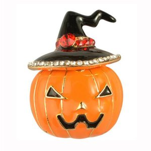 Wholesale Hot Selling Halloween Gifts Environmental Zinc Alloy Drop Oil Pumpkin Enamel Pin Brooch jewelry