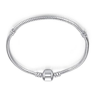 Hot Sale Gifts 3mm Silver 17-23cm Snake Chain Bijoux Bracelet Homme Femme For Women Men Charm Jewelry CHH028