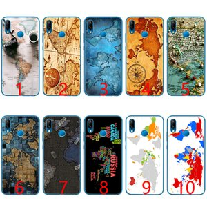 Wholesale World Map Travel Plans Soft Silicone TPU Phone Case for Huawei Honor A Pro A X Lite Lite Cover
