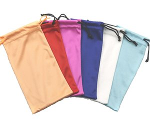 Wholesale Microfiber Drawstring Opening Eyeglass Pouch Case x18cm Soft Fabric Cloth Bags Sunglasses Storage Case Pocket
