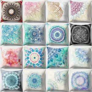 ingrosso cuscini bohemian getta-Bohemian Boho Cover Decorative Pillowcase Floral Cushion Pillow Case cm Collo Travel Sofa Throw Pillow Cover