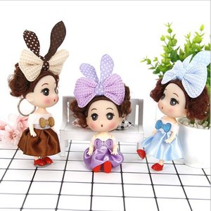 Wholesale 100pcs Mini Dolls Toys Keychain Princess Dolls For Girls Anime Brinquedos Gift cm Doll Action Figure Toy