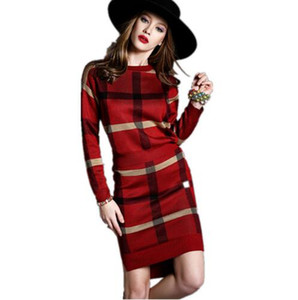 Wholesale Striped Long sleeved Pullovers Knitted Piece Sets Winter Runway Elegant Leisure Suit Skirt Stretch Crop Top And Set