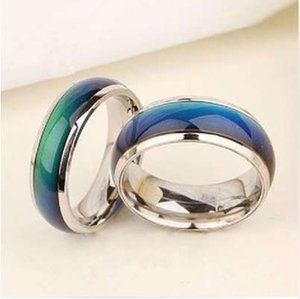 Wholesale Mood Ring Wedding Rings with the temperature change color magic rings for women men