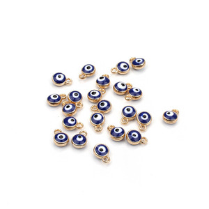 30pcs lot LUCKY EYE turkey evil eye gold  silver tone charms connectors beads for diy bracelet bangle jewelry accessories