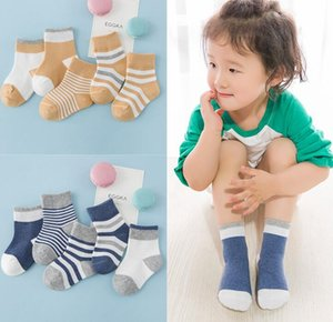 Wholesale High quality cotton baby socks set spring autumn winter newborn infant toddler floor striped socks 5pair lot