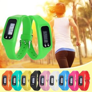 Wholesale Long life battery Multifunction New Digital LCD Pedometer Run Step Walking Distance Calorie Counter Fitness Electronic Bracelet Pedometers