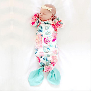 Wholesale Newborn Baby Sleep Bag Mermaid Tail Wearable Blanket Long Sleeve Nightgown for Infant Cute Sleeping Bag