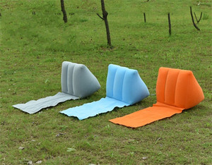 Wholesale pillow bolsters for sale - Group buy Hot Sale Pvc Back Cushion Inflation Travel Outdoors Bardian Bolster Triangle Shape Folding Flocking Pillows To Children jx dd