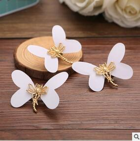 DIY 120pcs lot Retro White Alloy Butterfly Hair Clips Dragonfly Hairpins Bride Marriage Decorations Hair Care Styling Tools Free-shipping