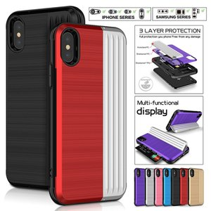 Wholesale For iPhone xr anti drop card holder Apple anti drop multi function iPhone xs max protective cover