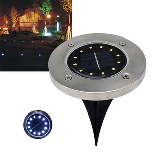 Wholesale NEW Waterproof LED Solar Buried Light Ground Lamp Underground Lamps for Outdoor Path Way Garden Decking Atmosphere Light