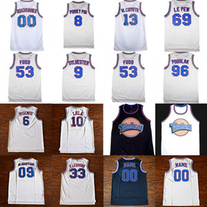 Mens Tune Squad Space Jam Custom Movie Jersey ROADRUNNER LOLA FUDD PORKYPIG SYLVESTER W.COYOTE F.LEGHORN LE PEW PODOLAK Basketball Jerseys on Sale