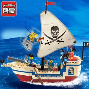 Building blocks small pellets set toy model 6-10 years old children puzzle toy pirate series 304