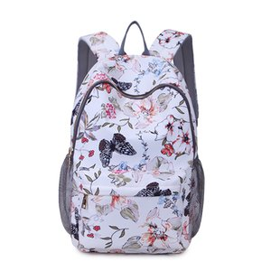 Floral Backpack Bag-Lightweight Fashionable Oxford Travel Bag Laptop Backpacks College School Bag Casual Daypack for Women Girls Hiking