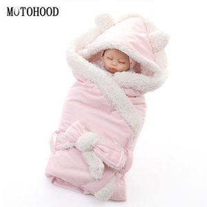 Wholesale MOTOHOOD Winter Baby Boys Girls Blanket Wrap Double Layer Fleece Baby Swaddle Sleeping Bag For Newborns Bedding Blanket