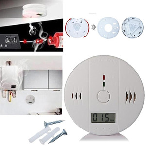 Wholesale High Sensitive CO Carbon Monoxide Detector Alarm System For Home Security Poisoning Smoke Gas Sensor Warning Alarm Tester Digital LCD