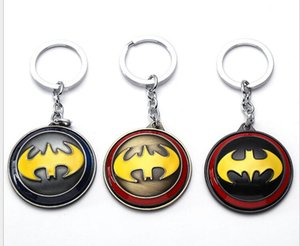 Bat Man Movie Theme Metal Keychains Batman Movie jewelry Key Chains comic figure pendant accessories Key Gift