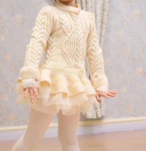 Girls 3 to 7 years fashion sweater, baby children spring fall winter tutu clothes, wholesale boutique Pullover clothing, 5BB406TS-29