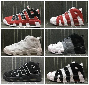 2018 Air More Uptempo Women Mens Basketball Shoes, High Quality Tri-Color Scottie Pippen PE Triple White Athletic Sport Sneakers US5.5-13