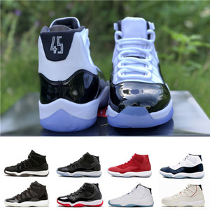 Platinum Tint man Basketball Shoes 11S Cap and Gown Gym Red Space 45 UNC Win RE2PECT concord Athletic men Sport designer shoes trainer on Sale