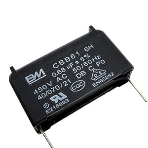 The new CBB61 capacitor 0.68uf 450VAC fan hood fan start capacitor capacitance on Sale