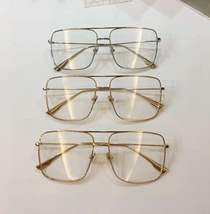Square Gold Metal frame Clear Lens Eyeglasses Sunglasses Fashion Brand Sunglasses Eyewear Rare New with Box