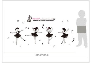 Wholesale Ballet Dance Stickers School Classroom Wall Stickers For Kids Room