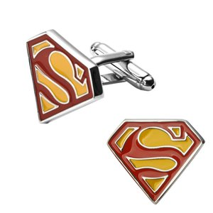 2018 Superman Super Man Superhero Super Hero Cufflink Cuff Link skirt men's suit cuff cutton men