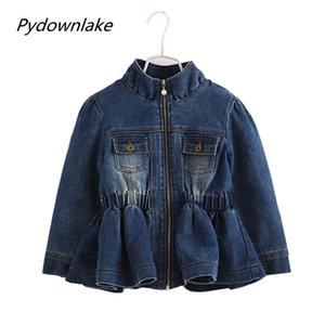 Wholesale 2018 Sale Direct Selling Girl Years Baby Girls Fall Winter Coat Warm Kids Jackets Long Sleeve Denim Coats And Autumn Children Outerwear