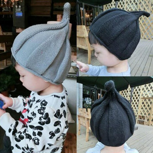 Wholesale baby elf hats for sale - Group buy Autumn Winter Children Elf Caps Sweater Hat Cute Child Peaked Top Cap Baby Windmill Hat DHL TC181011