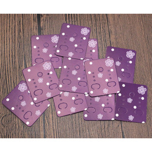 Wholesale 200Pcs x4 cm Flowers Print Paper Ear Studs Card Hang Tag Jewelry Display Earrings Card Favor Marking Price Label Tags