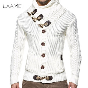 Wholesale LAAMEI Autumn Winter Fashion Casual Cardigan Sweater Coat Men Loose Fit Warm Knitting Clothes Sweater Coats Mens Button Top
