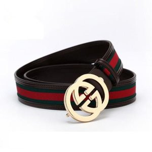 Fashion Brand Design Belts Red Explosion Stripe Belt Leather Cowhide Men and Women Belt High Quality Free Shipping