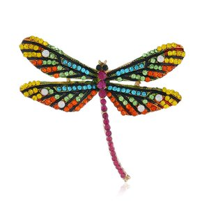 Wholesale Explosions Europe and American Retro Brooch Big Dragonfly Silk Scarves Buckle Brooch Factory Direct Sales Pins