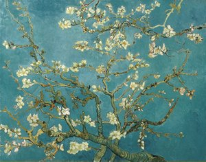Wholesale canvas art oil painting blossom for sale - Group buy Van Gogh Oil Painting Reproduction Almond Blossom Canvas HD Picture Giclee Print Wall Art Modern Home Decor Unframed or Framed HT