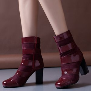 Wholesale LAPOLAKA Dropship plus size High Heel Elegant Boots Women Shoes Patchwork Winter Date Shoes Woman Boots