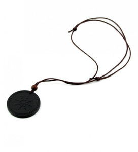 Quantum Pendants Necklace Scalar Energy Pendant with Negative Ion Energy Pendant Black Lava Stone Jewelry Negative Ion Science Bio Pendant