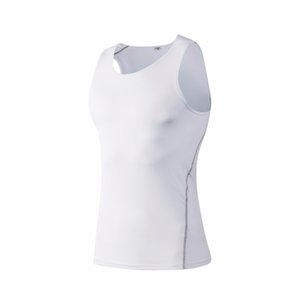 Brand New Running Vest Top Men Gym Yoga Sportswear Jerseys Men Quick dry Gym Clothes Sleeveless White Sport Compression Shirt
