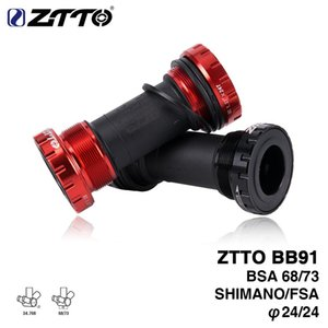Wholesale ZTTO BB91 External Bearing Bottom Brackets for Bicycle BSA68 68 73 Thread For Parts Prowheel 24mm Crankset Waterproof CNC MTB