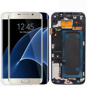 Wholesale 5.1'' SUPER AMOLED Display for SAMSUNG Galaxy S6 edge LCD + Frame G925 G925I G925F Touch Screen Digitizer