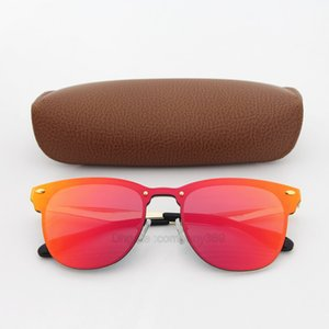 Wholesale 1pcs Top quality Sunglasses for Women Fashion Vassl Brand Designer Gold Metal Frame Red Colorful Sun glasses Eyewear Come Brown Box