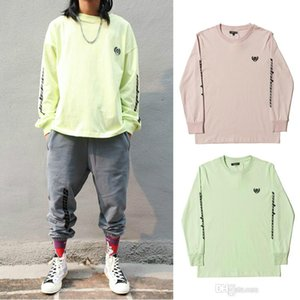 Wholesale 2018 Kanye West Calabasas Season T shirt For Men Women New Hip Hop Streetwear Green Pink Long Sleeve Cotton Tees ZYH1005