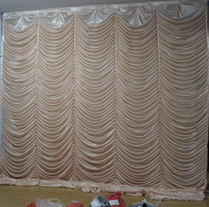 Wholesale draping curtains for sale - Group buy 3M M wave backdrop Party Curtain Celebration Stage water ripple background drapes
