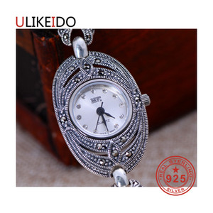 Wholesale 100 Pure Sterling Silver Watch Men Fashion Hand Chain For Women Thai Silver Jewelry Charm Bracelet Homme