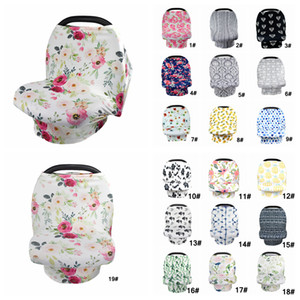 Baby Floral Feeding Nursing Cover Newborn Toddler Breastfeeding Privacy Scarf Cover Shawl Baby Car Seat Stroller Canopy Tools 30pcs AAA848 on Sale