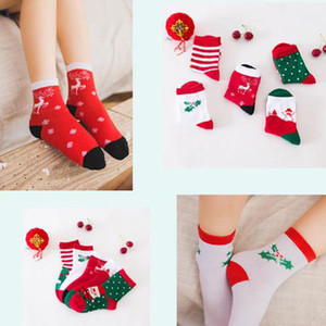 Wholesale New Unisex Kids Children Autumn Winter Christmas Socks Baby Cotton Cartoon Tube Socks Boys Girls Elk Snowman Socks