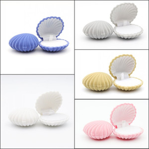 Lovely Shell Shape Velvet Wedding Engagement Ring Box For Earrings Necklace Bracelet Jewelry Display Gift Box Holder
