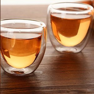 Wholesale Novelty egg Cup glass tea cup bodum Pavina Espresso Shot Wall Glass double layer water glass cup ml